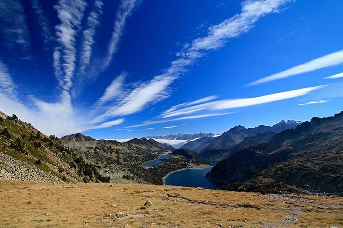 Lacs du Néouvielle depuis la Hourquette d'Aubert