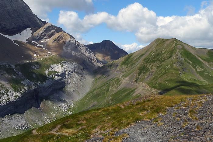 Col de Boucharo depuis le pic de Tentes