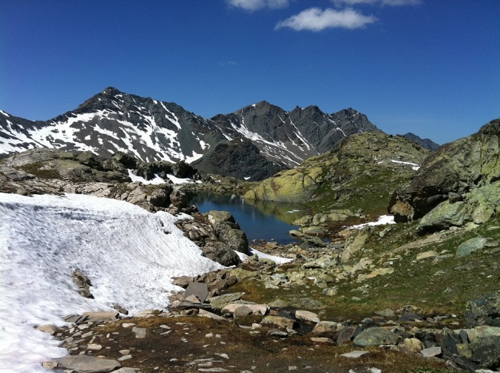 Lac dans les Hautes-Alpes