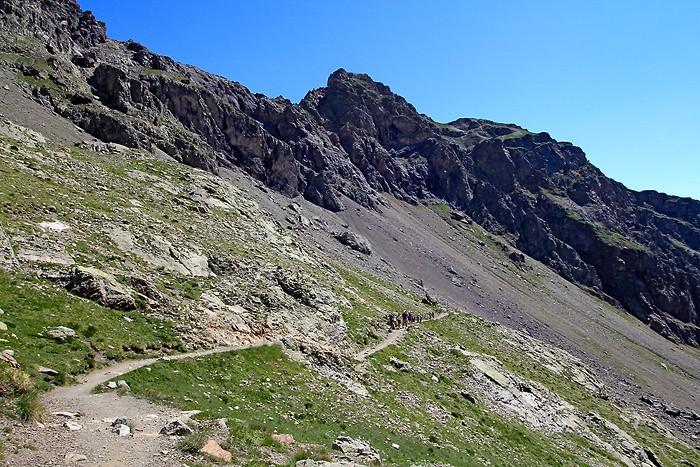 La montée vers le lac de l'Eychauda
