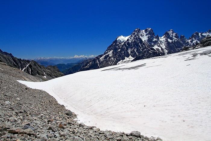 Le Glacier Blanc depuis le Pré de Mme Carle
