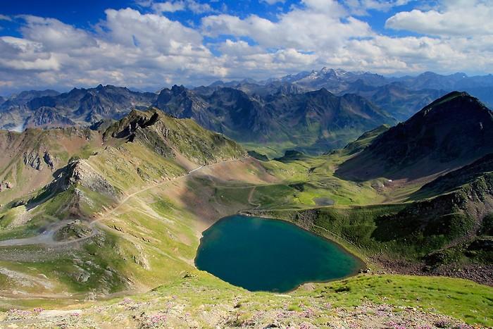 Lac d'Oncet depuis la montée Pic du Midi