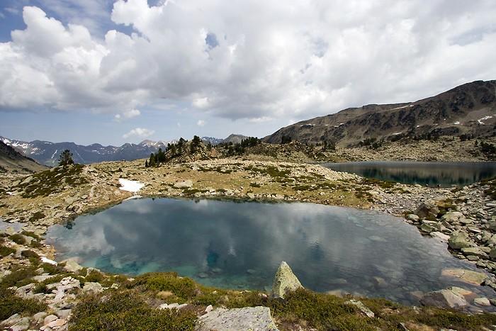 Lac Nère en redescendant de la Hourquette d'Aubert