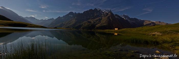 Lac du Pontet sous la pleine Lune