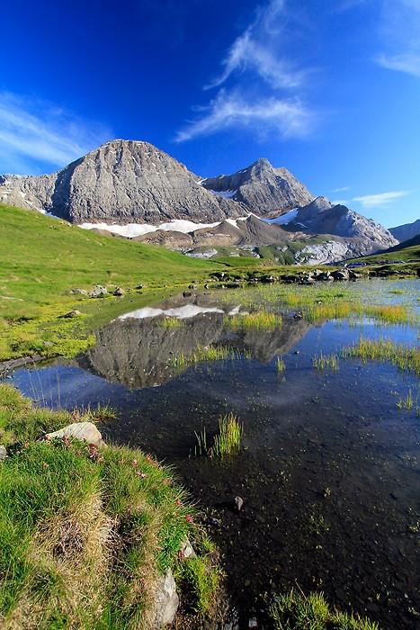 Pic du Taillon depuis le col de Tentes dans les Pyrénées