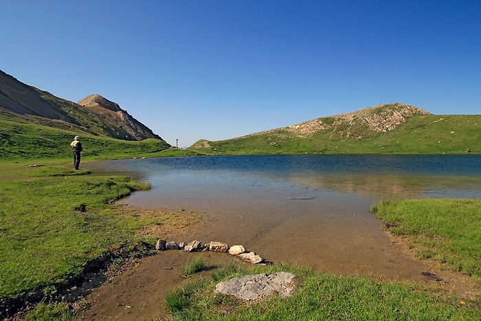 Pécheur au lac de Souliers