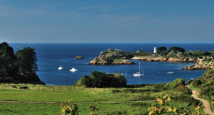 Randonnée sur l'île de Bréhat en Bretagne
