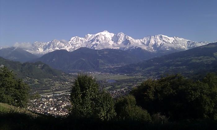 Au pays du Mont-Blanc en Haute-Savoie au dessus de Sallanches