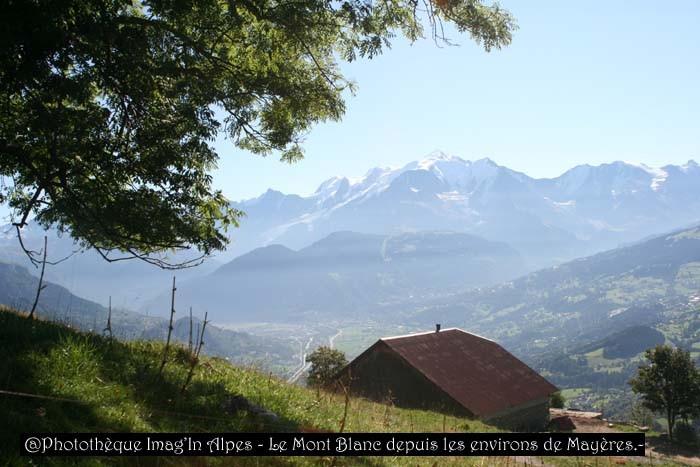 Mont Blanc depuis les Mayères