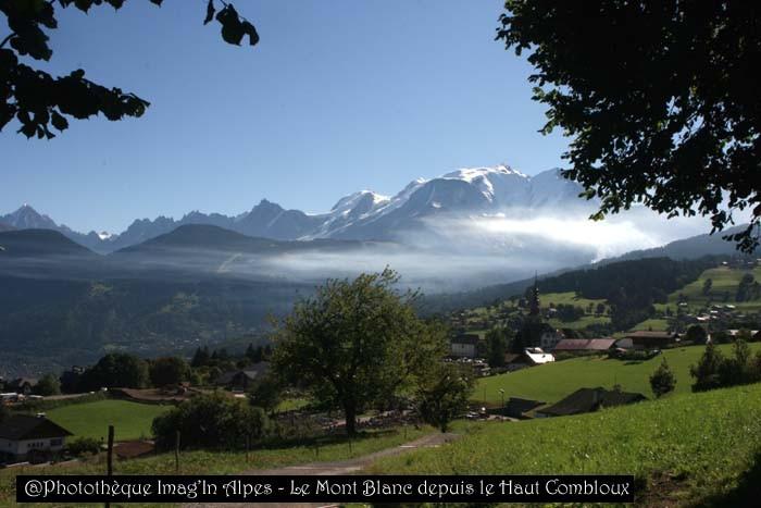Mont Blanc depuis le Haut Combloux