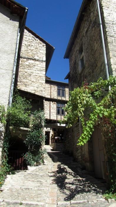 Ruelle pavée et grimpante de Sainte Enimie