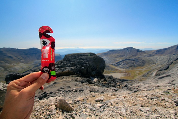 Randonnée au Casque du Marboré avec le Gel Mulebar Cherry Bomb