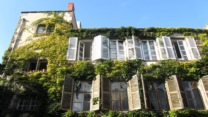 Façade de maison de Riom près de Clermont Ferrand