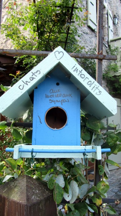 Refuge à oiseaux, à Yvoire