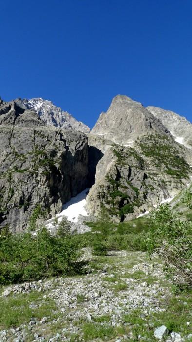 Montée au Glacier Blanc dans les Alpes
