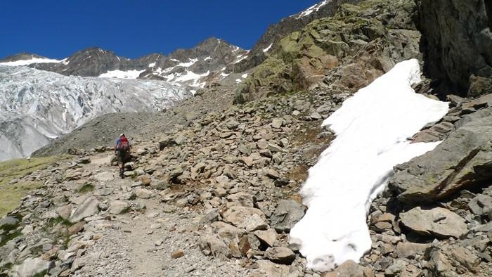 Direction le Glacier Blanc dans les Alpes