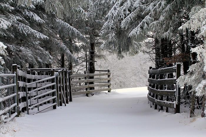 Aveyron sous la neige