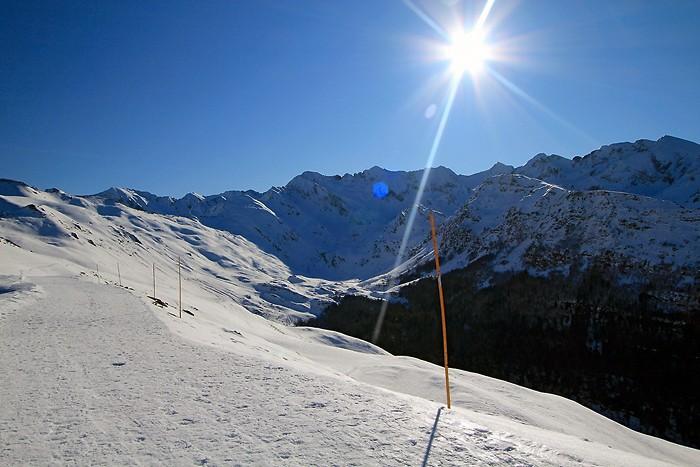 Randonnée dans la neige à Hautacam