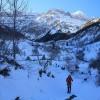 Randonnée en raquettes à neige à la cabane de Pailla