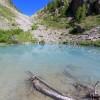 Lac de la Douche et le col où il faut monter