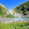 Plan large sur le lac de la Douche