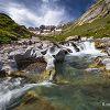 Vasques et cascades dans le cirque d'Estaubé