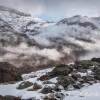 Les nuages progressent dans la vallée