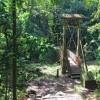 Passerelle sur le chemin de randonnée