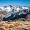 Plateau de Saugu� et sommets enneig�s