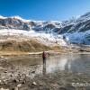 Au bord du lac face aux sommets de Troumouse