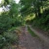 La piste que l'on emprunte au-dessus de la chapelle