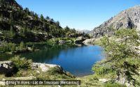Lac de Trécolpas depuis la vacherie du Boréon