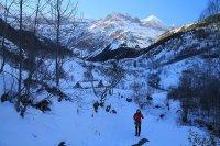 Activités outdoor : Randonn�e en raquettes � neige � la cabane de Pailla