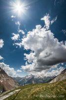 Superbe point de vue sur les sommets espagnols