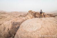 Désert en Jordanie non loin de Petra