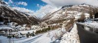 Village de Gèdre sous la neige
