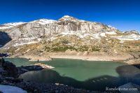 Lac des Gloriettes depuis son barrage