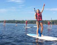 Activités outdoor : Yoga SUP sur le lac de Lacanau