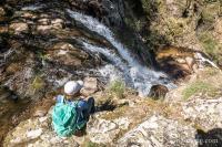 La cascade des Palanges vue d'en haut