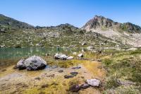Sur les rochers au lac Blanc de Barèges