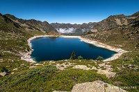 Pause repas face au lac Dets Coubous