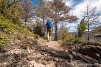 Le sentier descend vers Eglazines