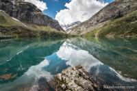 Reflets dans le lac des Gloriettes