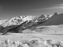 Hautacam dans les Pyrénées le jour de l'an