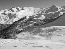 Hautacam station de ski dans les Pyrénées