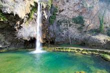 Cascade de Salles la Source en Aveyron
