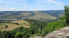 Vue sur la vallée du Lot depuis le village de Roquelaure
