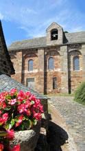 Eglise de Roquelaure au dessus de la Vallée du Lot