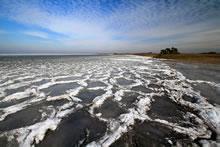 Le lac a gelé à Maubuisson