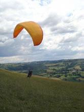 Parapente en Aveyon près de Rodez, Midi Pyrénées